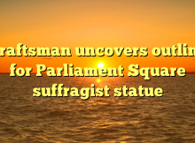 Craftsman uncovers outline for Parliament Square suffragist statue